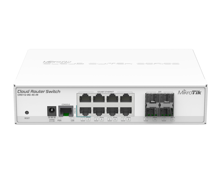 MikroTik Cloud Router Switch CRS112-8G-4S-IN