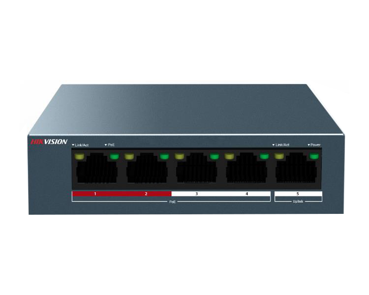 HikVision 5-Port 100 Mbps PoE Switch (DS-3E0105P-E/M)