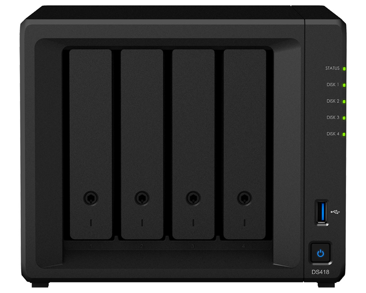 Synology DiskStation Nas Server 4 Bays, Dual 1GbE ports (DS418)