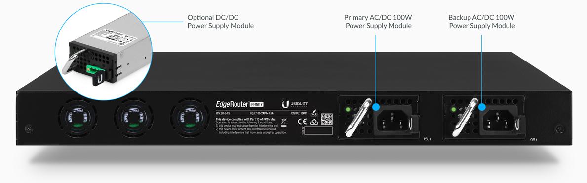Ubiquiti EdgeRouter Infinity 10G SFP/SFP+ 8 Port Router ER-8-XG