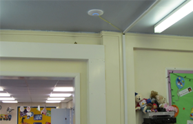 Woodsetton School Ubiquiti on celling
