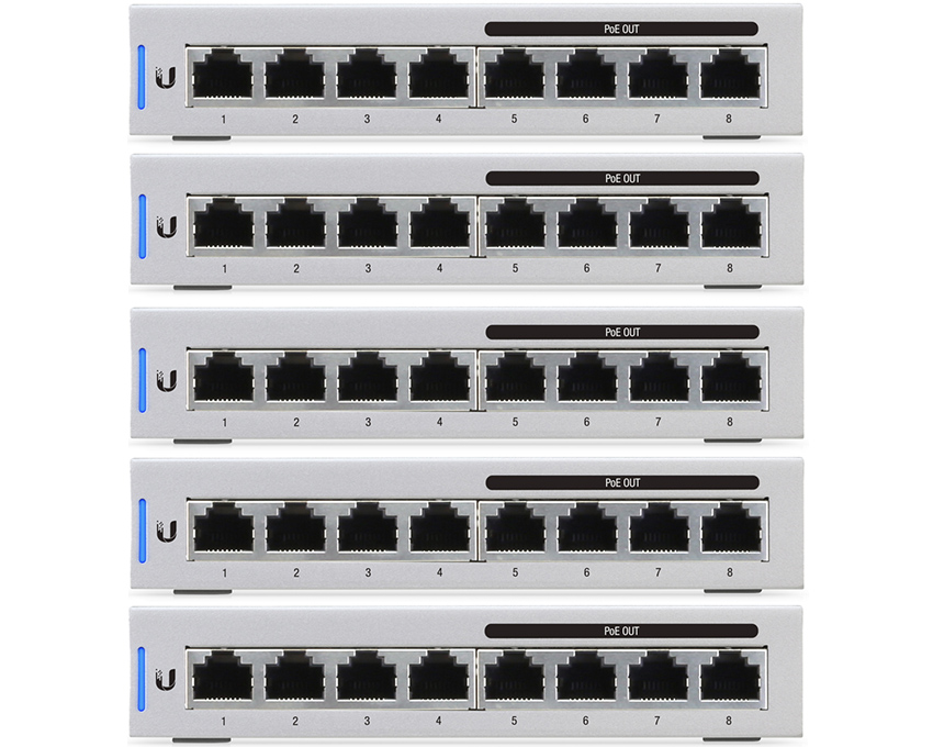 Ubiquiti UniFi Switch 8 Port - US-8-60W - 5 Pack