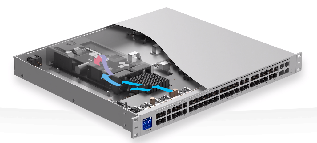 New airflow design reduces need for fan usage
