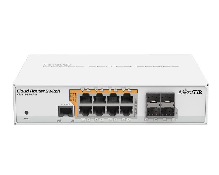 MikroTik Cloud Router Switch CRS112-8P-4S-IN