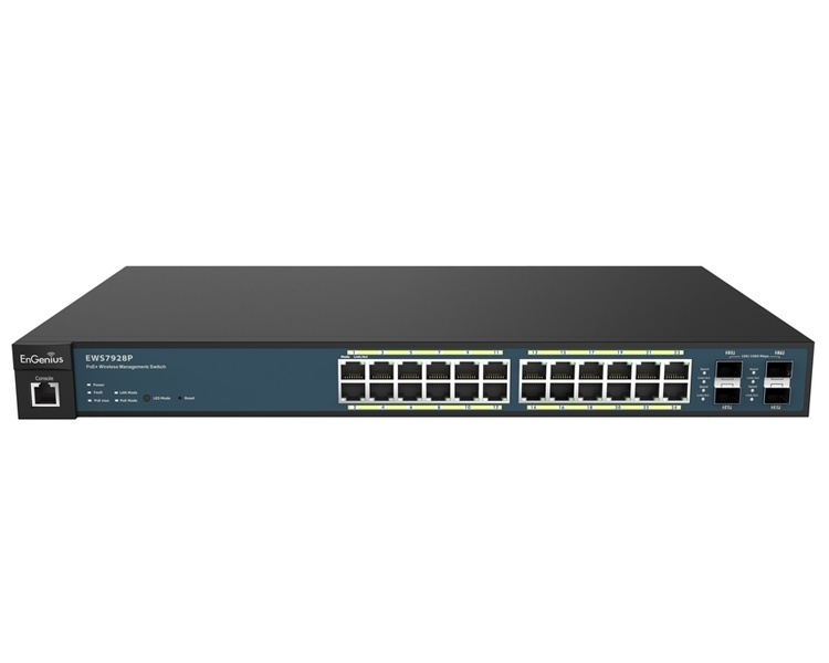 EnGenius Neutron EL-EWS7928P 24 Gigabit PoE+ Ports, Wireless Management L2 Switch (185W)