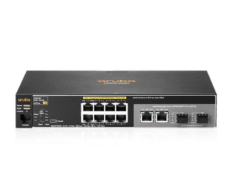 HP Aruba 2530-8G-PoE+ Switch (J9774A)