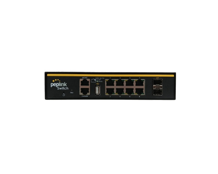 Peplink Software-Defined (SD) 8 PoE+ Ports Switch (PSW-8-240W-RUG)
