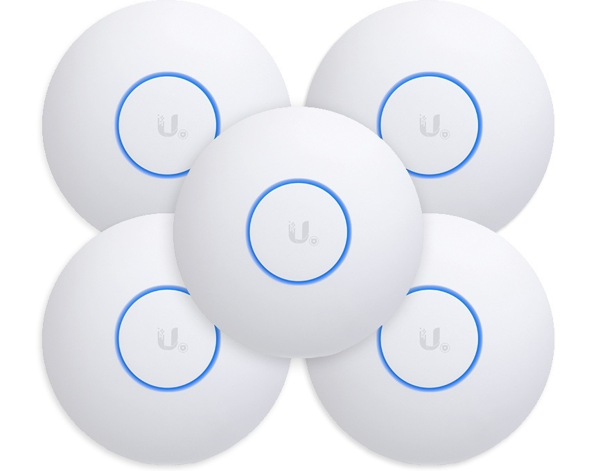 Ubiquiti UniFi Nano HD - 4x4 MU-MIMO 802.11ac Wave 2 Access Point 5 Pack (UAP-NANOHD-5)