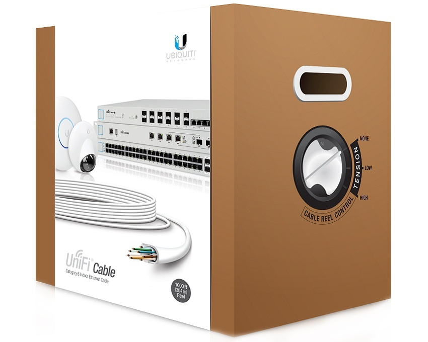 Ubiquiti UniFi Cat 6 Cable (UC-C6-CMR) - 1000ft